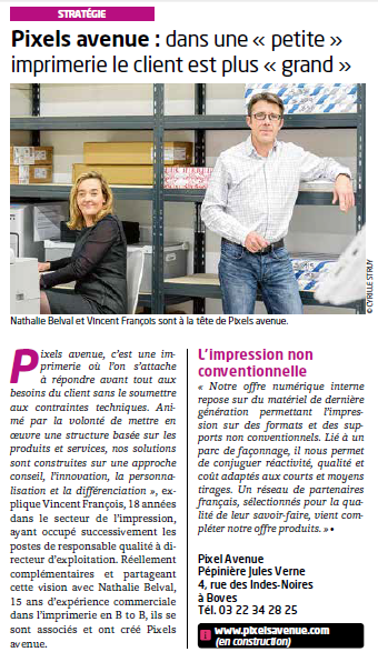 presse article journal entreprise 80- janvier 2015